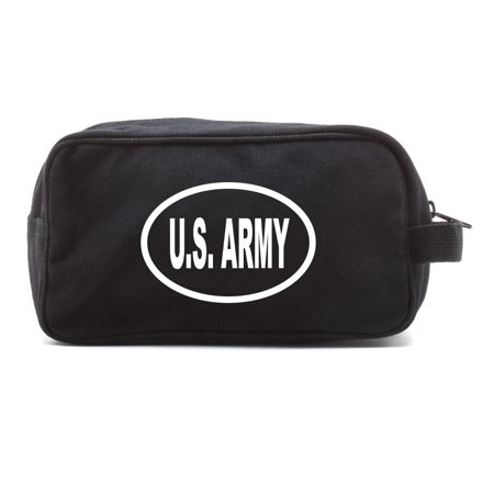 - US Army Oval Bumper Sticker Military Canvas Shower Kit Travel Toiletry Bag Case