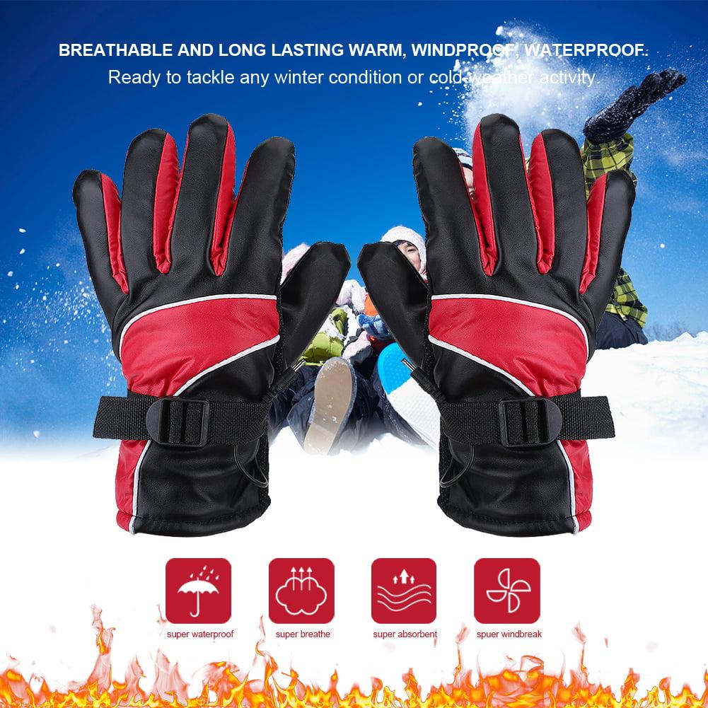 Motorcycle Heated Gloves,Outdoor Hunting Ski Racing Winter Warm Gloves Waterproof