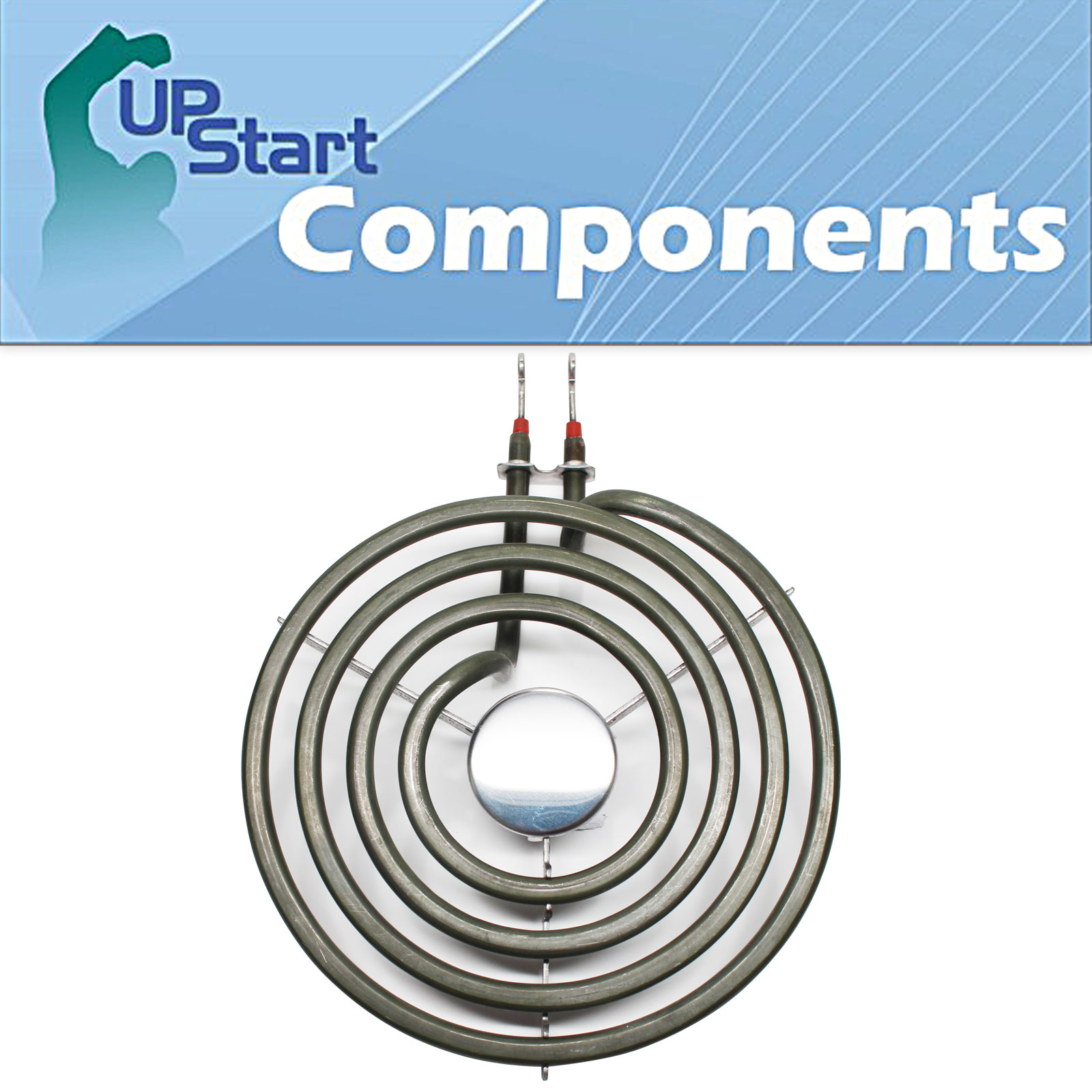 Replacement Whirlpool RF302BXDW0 6 inch 4 Turns Surface Burner Element - Compatible Whirlpool 660532 Heating Element for Range, Stove & Cooktop - image 4 de 4