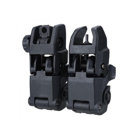 VICOODA Flip-up Sights, Tactical Front and Rear 45 Degree Folding Back-up Sights Set for 20mm Rail Picatinny, Hunting Accessories,