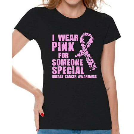 Breast Cancer Awareness T shirts For Women Cancer Shirts Breast Cancer Tshirts Pink - Cancer Womens T-shirt