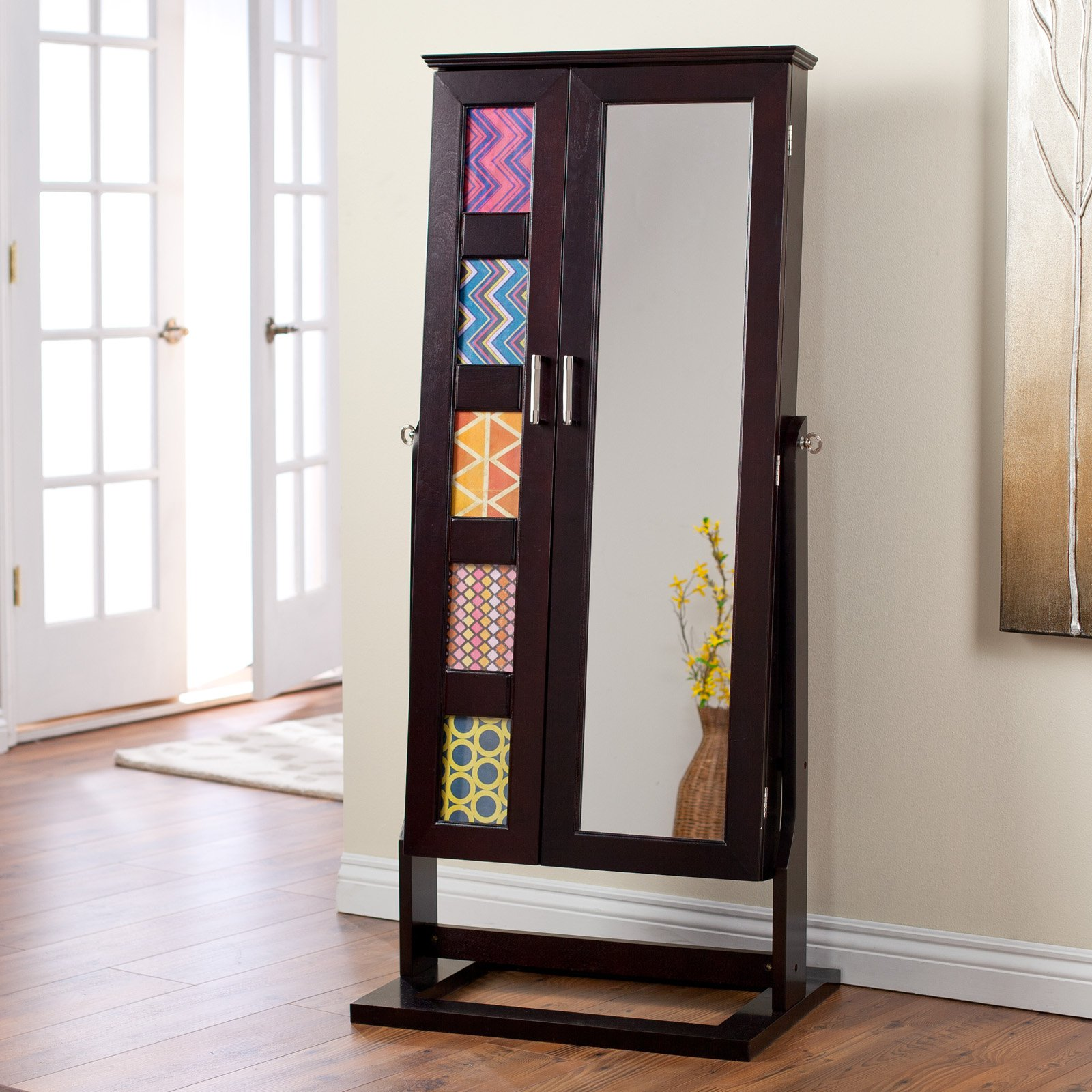 Belham Living Photo Frames Jewelry Armoire Cheval Mirror - Espresso