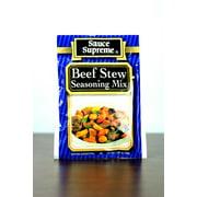 Pack of 24 Sauce Supreme Beef Stew Seasoning Mix 1.375 oz. #30005