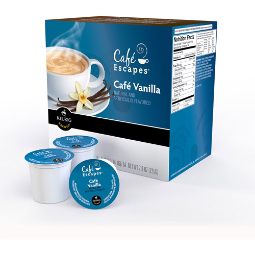 Cafe Escapes Cafe Vanilla K-Cups Coffee, 16 count