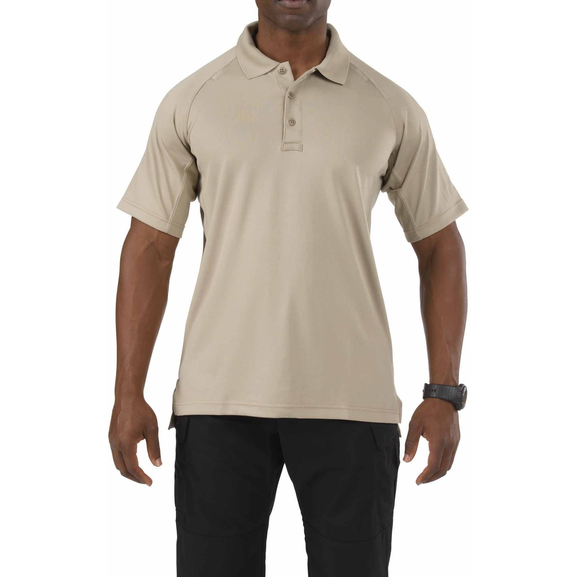 Performance Short Sleeve Polo Shirt, Silver Tan