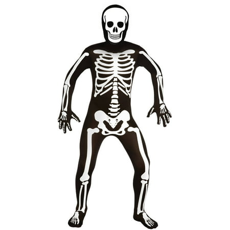 Men Skeleton Bodysuit Medium Halloween Dress Up / Role Play Costume