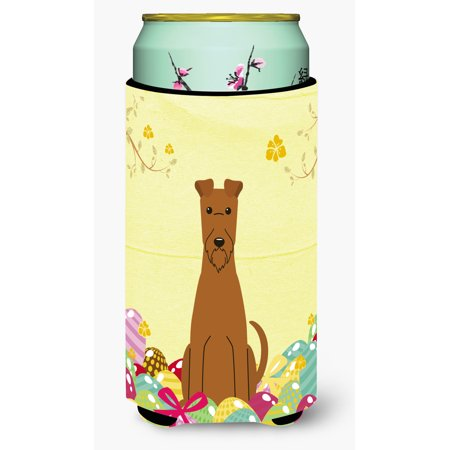 Easter Eggs Irish Terrier Tall Boy Beverage Insulator Hugger BB6062TBC