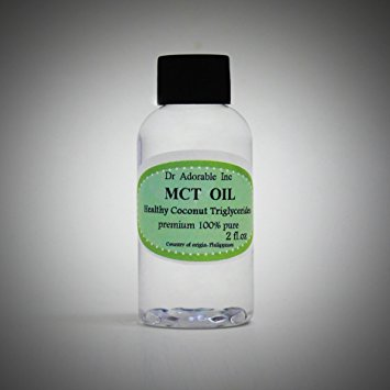 Dr. Adorable - 100% Pure Premium MCT Oil derived from Organic Coconut Oil Pure Medium-Chain Triglyceride- 2 oz