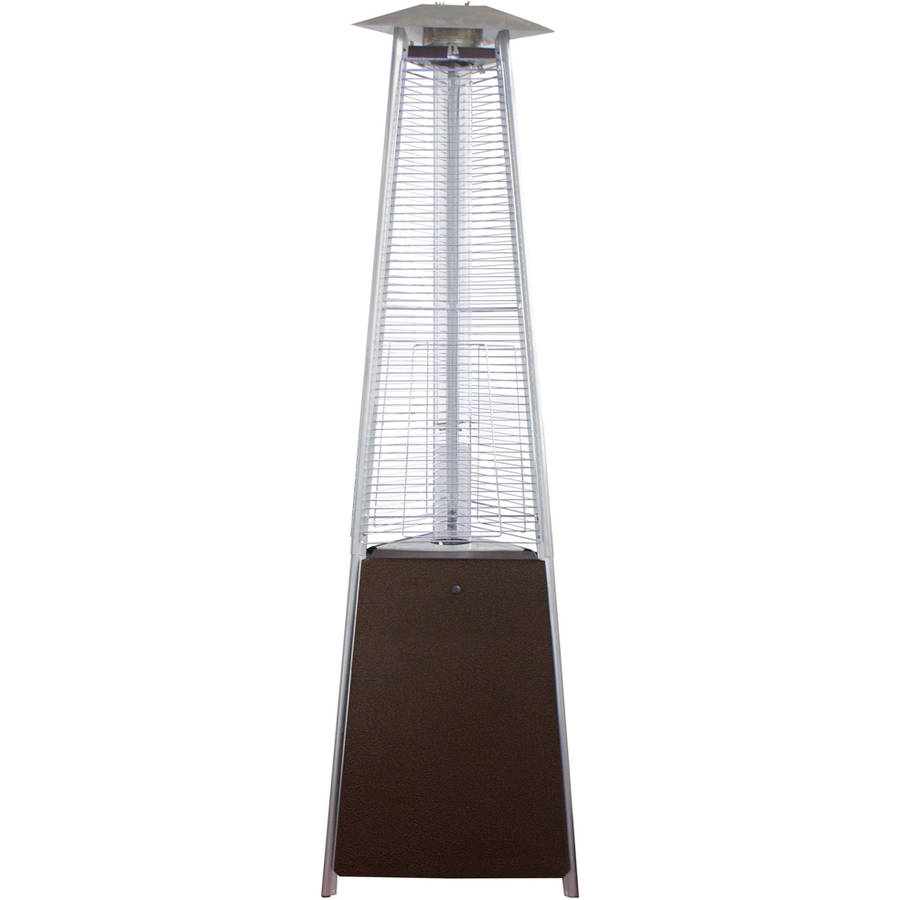 Hiland Commercial Bronze Natural Gas Glass Tube Patio Heater by AZ Patio Heaters