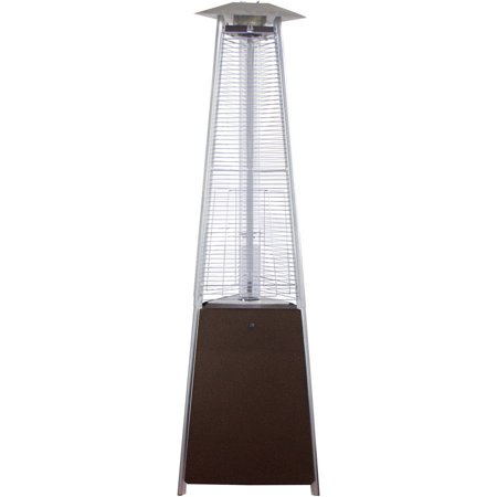 Hiland Commercial Bronze Natural Gas Glass Tube Patio Heater