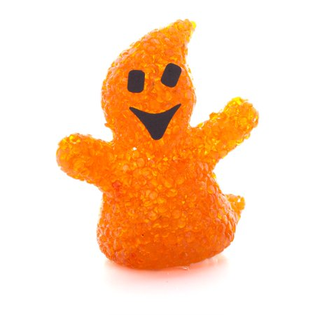 Halloween EVA LED Light Up Ghost Orange 5