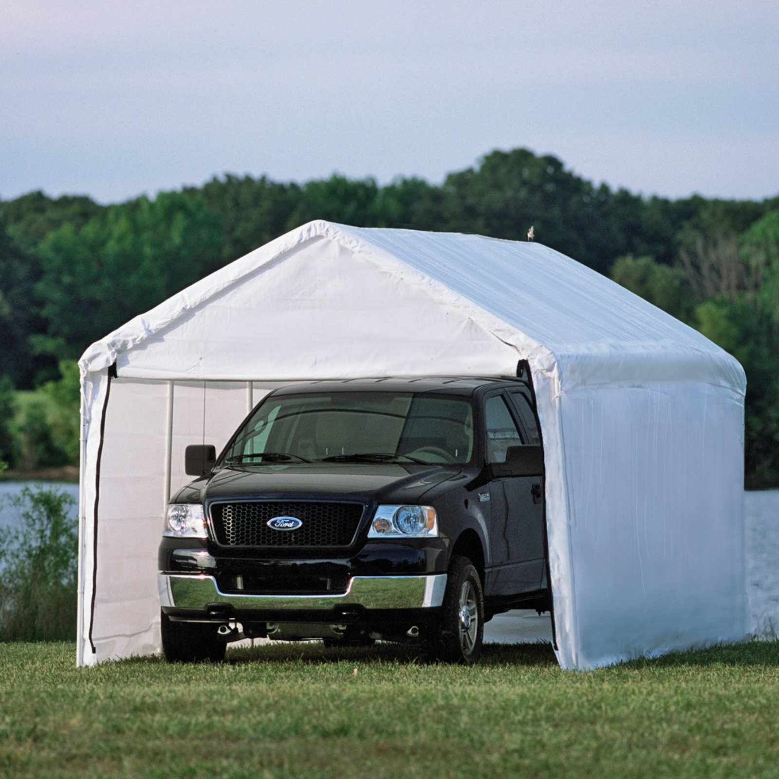 """Shelterlogic Max AP Canopy 3-in-1 10' x 20' 1-3/8"""" 4-Rib Frame White Cover Enclosure and Extension Kits"""