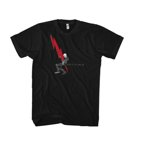 Queens of The Stone Age Men's Man With Lightning Bolt Slim-Fit T-Shirt