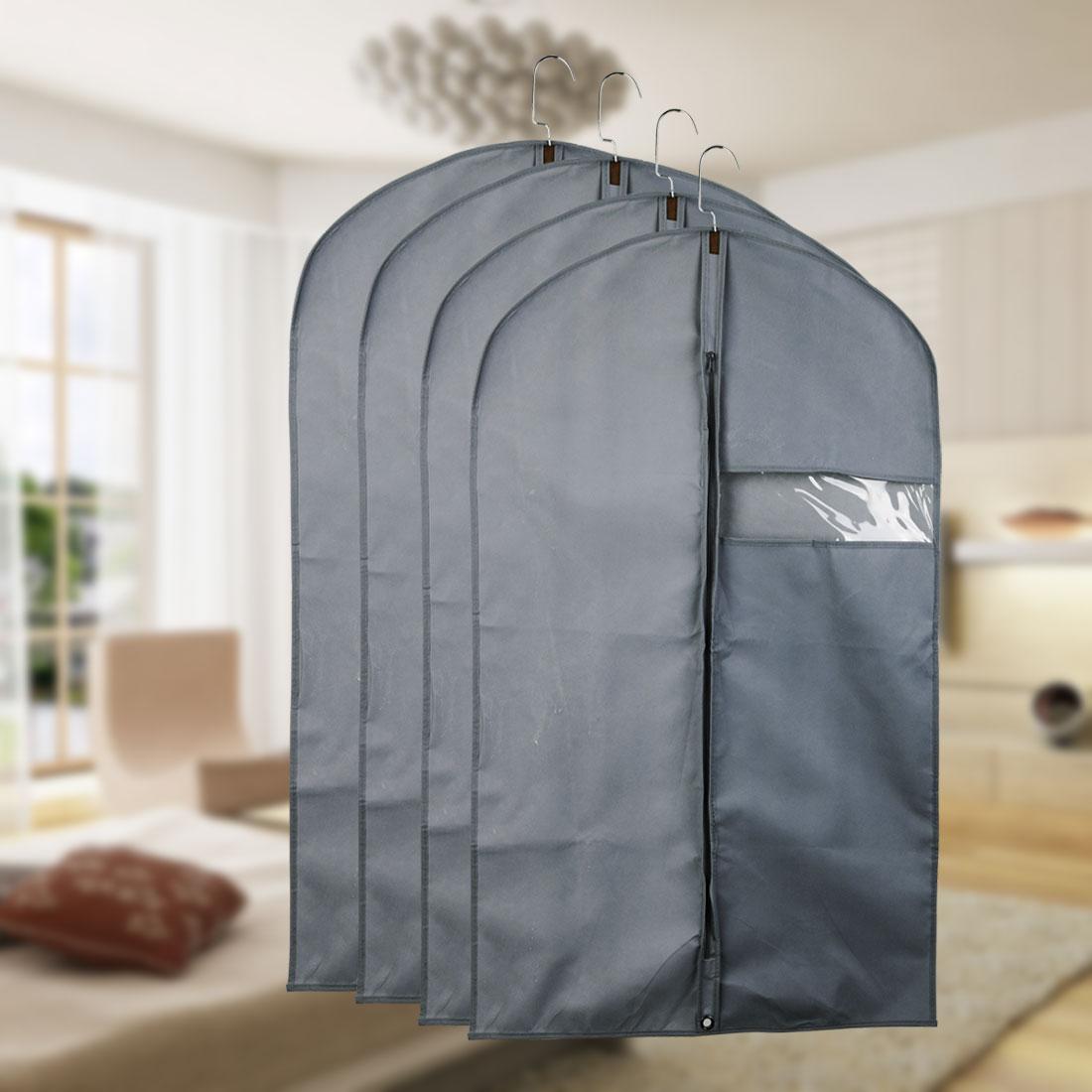 a1f5bc4d3f0b Garment Cover Bags Storage Bag Dress Suit Coat Jacket Protector Gray Set of  5
