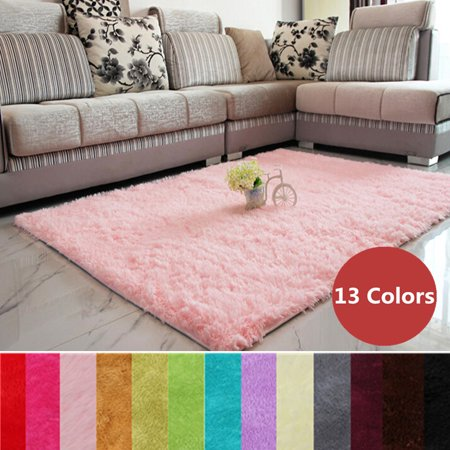 48 X32 Modern Soft Fluffy Floor Rug Anti Skid Shag