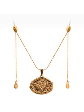 Guardian of Freedom Rafaelian Gold Expandable Chain Necklace