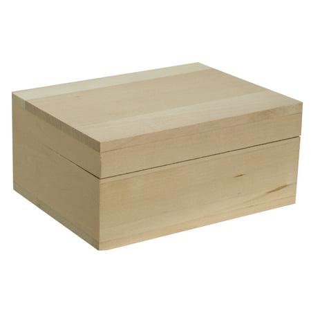 Walnut Hollow Basswood Classic Hinged Lid Box,