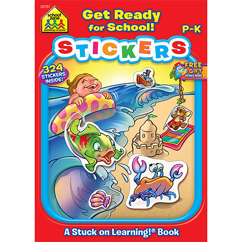 School Zone Sticker Workbook, Get Ready For School, Grades P-K
