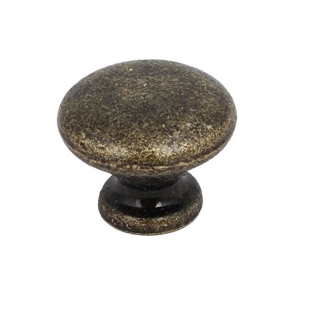 Cupboard Drawer Single Hole Round Shaped Pull Handle Knobs Bronze Tone 25x20mm
