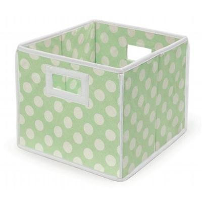 Badger Basket 00222 Folding Basket-Storage Cube Sage Polka Dot Home Organizers Istilo108016 by GSS