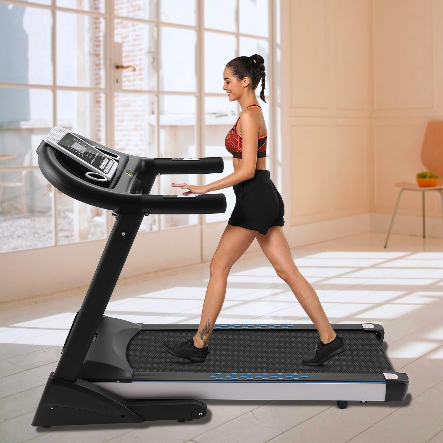 Lowest price ever!Treadmill 3.0HP Fitness Folding Electric Treadmill Exercise Equipment Walking Running Machine Gym Home
