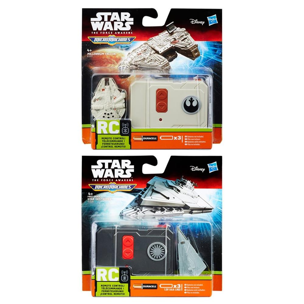 SW: E7: MM RC Vehicle Ast (6) Hasbro HSBB3726 Star Wars Episode 7 Micro Machines Assorted44; Pack of 6