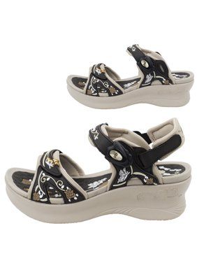 0ed9feb9adf Product Image GP5974 Women Easy Magnetic Closure (Snap Lock) Light Weight  Comfort Pump Wedge Platform Sandals. Gold Pigeon Shoes