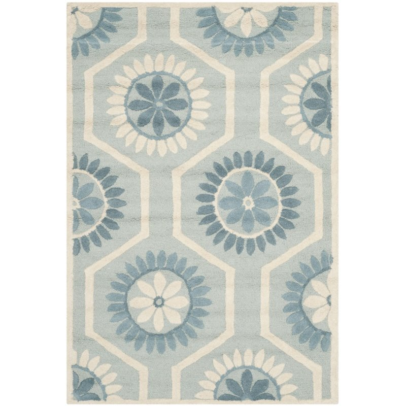 Safavieh Cambridge 8' X 10' Hand Tufted Wool Rug in Blue and Ivory - image 1 de 1