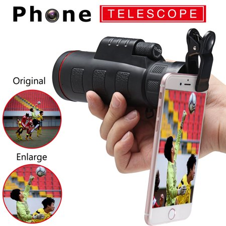 35X50 Optical Zoom Cellphone Telescope Camera Lens Clip-on For Telephone Smart Mobile Phone ()