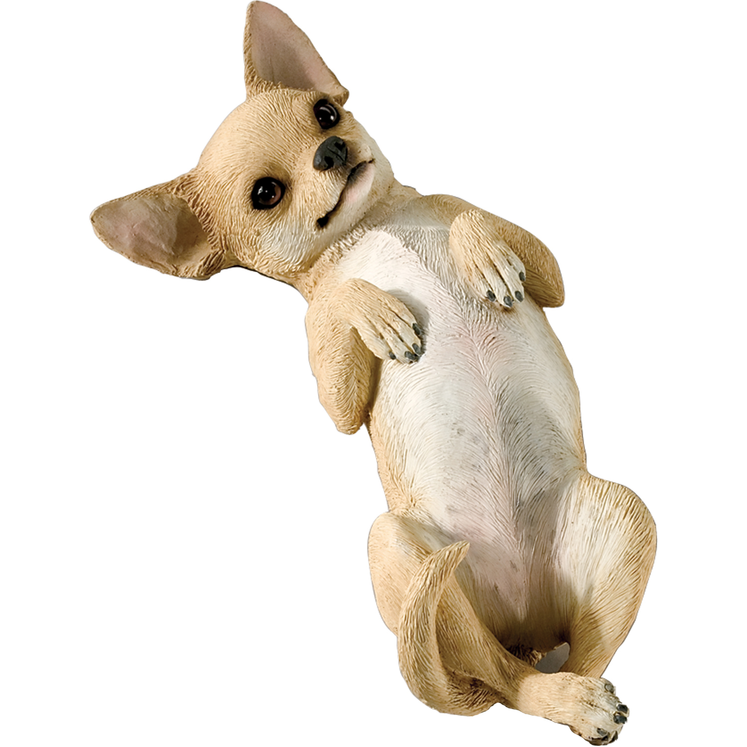 "Sandicast ""Original Size"" On Back Tan Chihuahua Dog Sculpture"