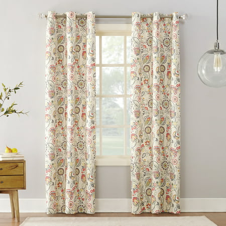 Sun Zero Cooper Textured Thermal-Lined Blackout Energy-Efficient Grommet Curtain Panel - Walmart.com
