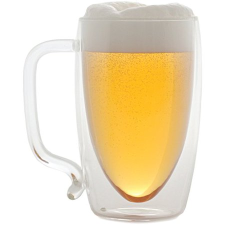 Starfrit 17 oz Double-Wall Glass Beer - Disposable Beer Mugs