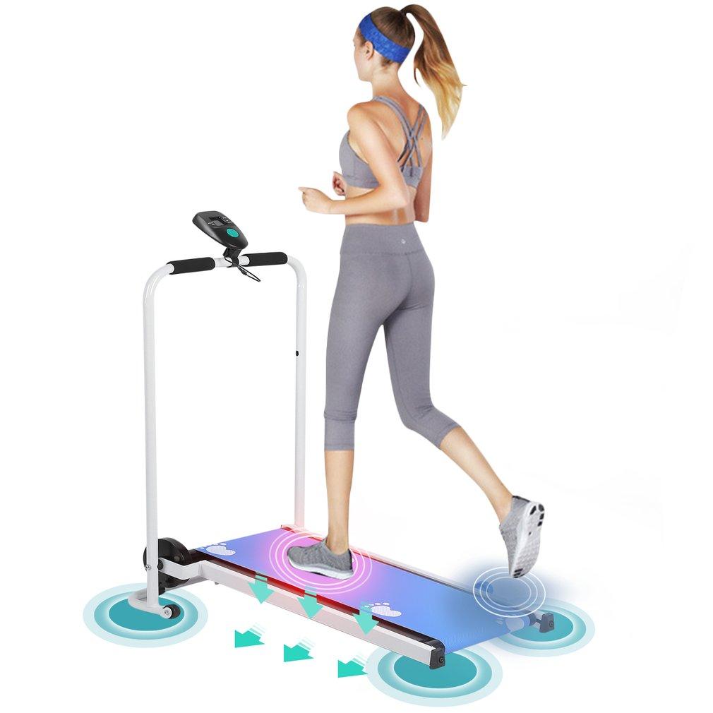 Mechanical Mini Mute Folding Confidence Running Treadmill...