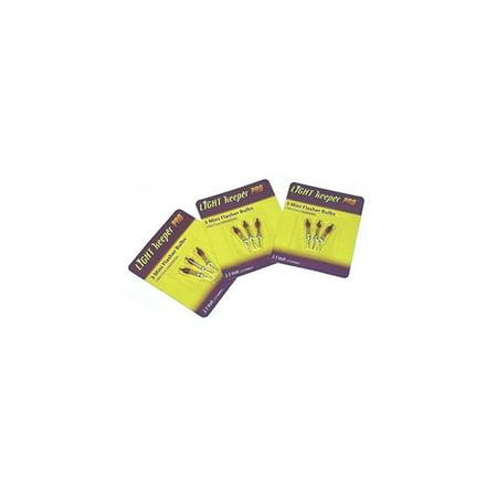 flasher bulbs bonus pack (9 bulbs): mini flasher replacement bulbs, incandescent, 2.5 v, up to 150 lights per bulb