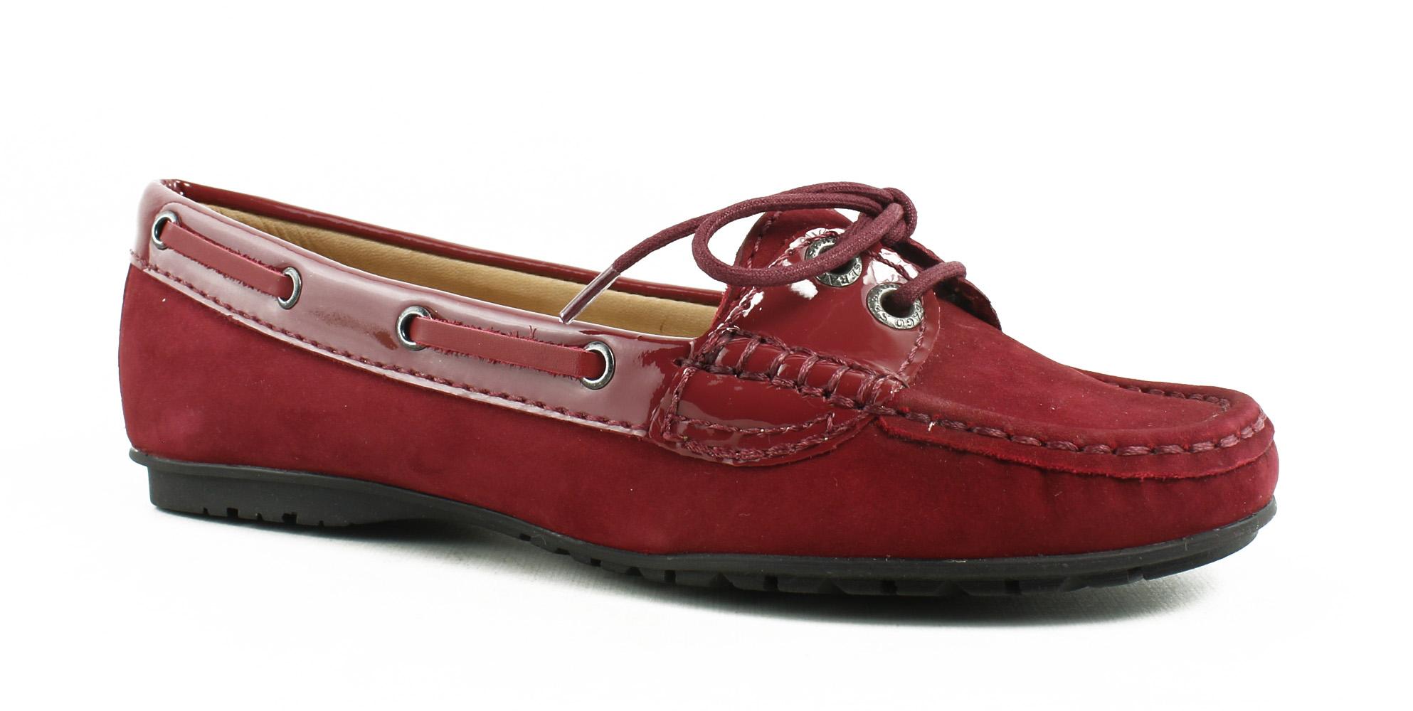 New Sebago Womens Meridantwoeye Red Boat Shoes Size 5 by Sebago