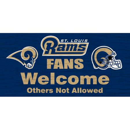 Fan Creations Nfl Fans Welcome Graphic Art Print On Wood