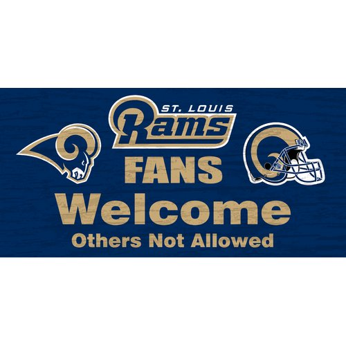 Fan Creations NFL 'Fans Welcome' Graphic Art Print on Wood