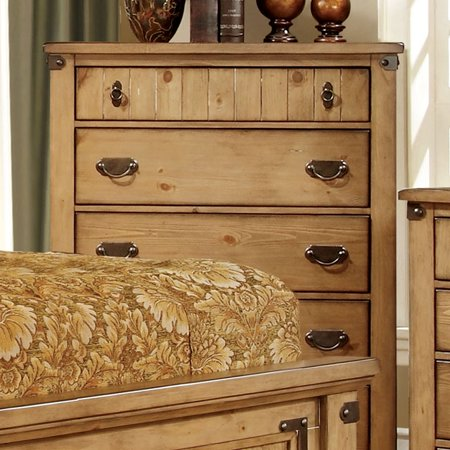 Furniture Of America Pioneer Cottage Style Weathered Elm Finish Bedroom Chest