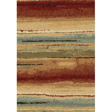 Orian Wild Weave Area Rugs 1631 High Pile Striped Banded