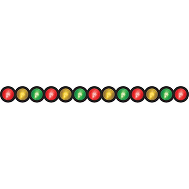HYGLOSS PRODUCTS INC.  HYG33615 STOP LIGHT DIE CUT CLASSROOM BORDER