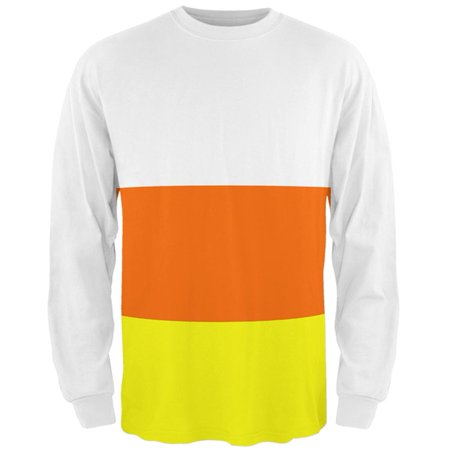 Halloween Candy Corn Costume All Over Mens Long Sleeve T Shirt (Long Halloween Absolute Edition)