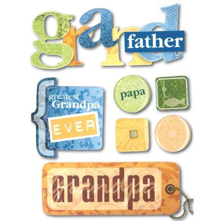 Soft Spoken Themed Embellishments-Grandfather, Embellishment By Me & My Big Ideas - Theme Ideas