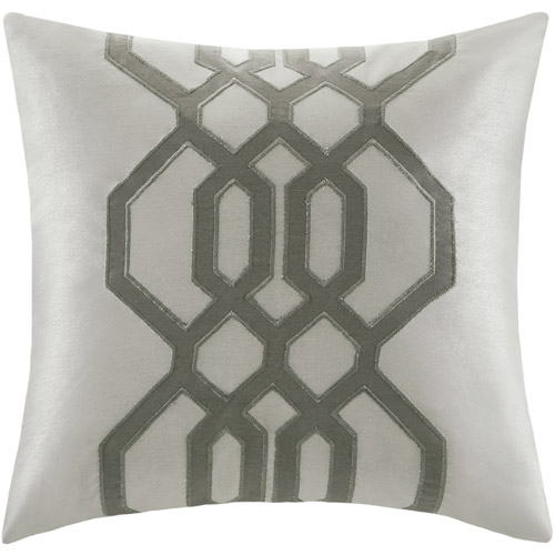 Better Homes and Gardens Carlye Square Pillow, Silver