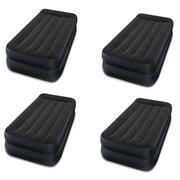 Intex Dura-Beam Pillow Rest Air Mattress Bed w/ Built-In Pump, Twin  (4 Pack)