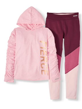 Hind Graphic Hoodie and Legging, 2-Piece Active Set (Big Girls)