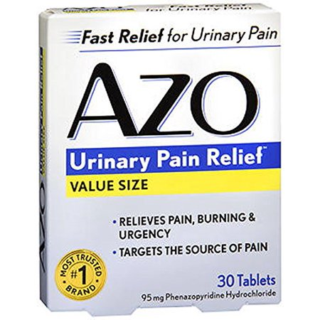 - 3 Pack AZO Standard Urinary Pain Relief Tablets 30 Each
