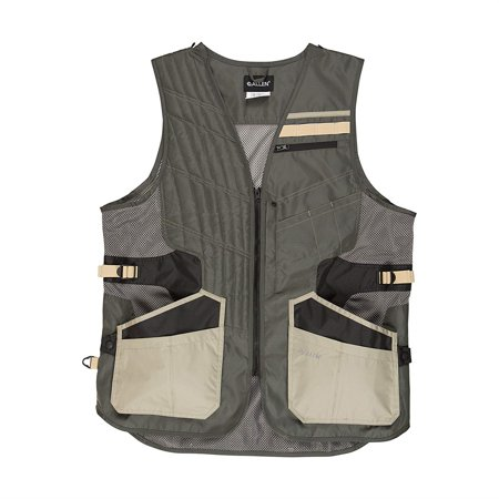Shot Tech Shooting Vest Medium/Large, Gray by Allen Company