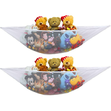 2PACK- Organize stuffed animals or children's toys with this mesh hammock. Looks great with any décor while neatly organizing kid's toys and stuffed animals.](Olaf Stuffed Animals)
