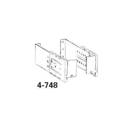Graber 4 1/2-Inch Wide Dauphine Rod Brackets, 6 to 8 1/2-Inch Projection (White, 1