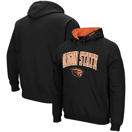 Oregon State Beavers Colosseum Arch & Logo Tackle Twill Pullover Hoodie - Black Oregon Mens Hoodie